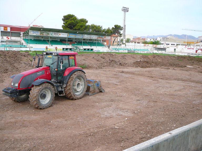 Se inician las obras en el Campo de fútbol La Magdalena