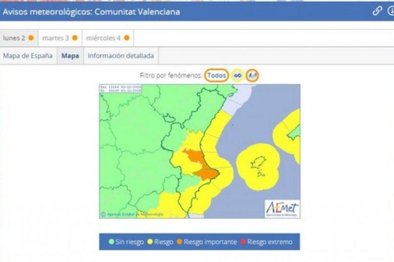 La AEMET anuncia la llegada de un nuevo temporal que afectará al Mediterráneo y al sur de la Comunidad Valenciana