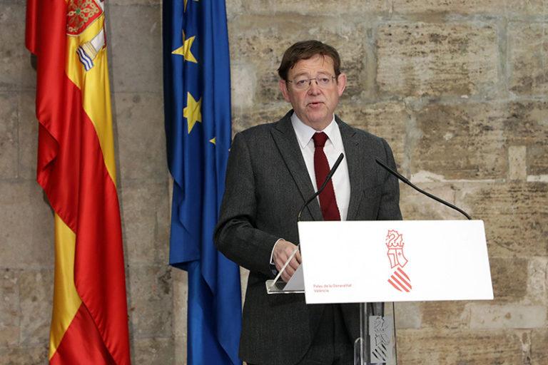 Ximo Puig anuncia ayudas de 2.500 euros para autónomos y empresas del sector turístico y una línea de un millón de euros para festivales musicales