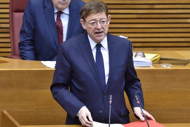 Ximo Puig reivindica un «gran acuerdo valenciano» para afrontar la recuperación de la Comunitat Valenciana ante la «emergencia histórica» por el COVID-19