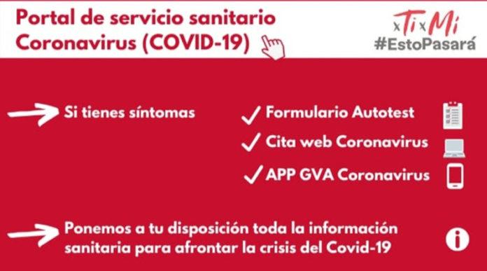 Portal de servicio sanitario Coronavirus (COVID-19)