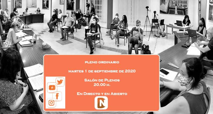 Consulta el orden del día, propuestas, mociones y preguntas de los grupos municipales para el pleno de septiembre
