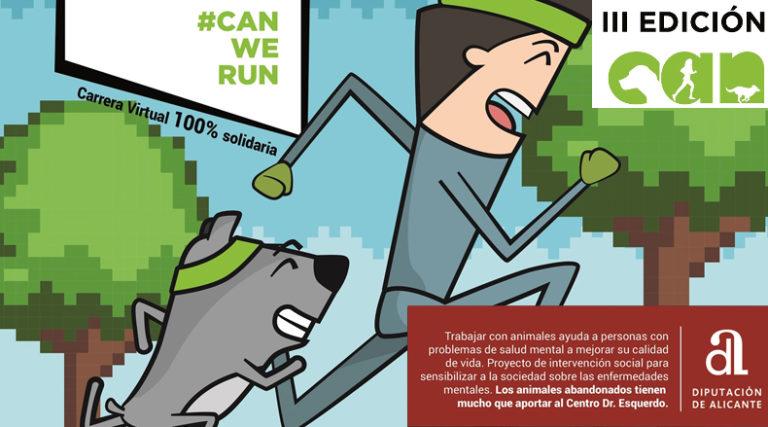 La Diputación colabora con la carrera solidaria con mascotas 'Can We Run'