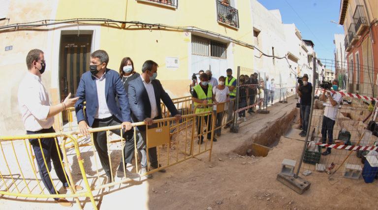 La Diputación de Alicante invierte más de 800.000 euros en la reurbanización de calles de Aspe y Agost