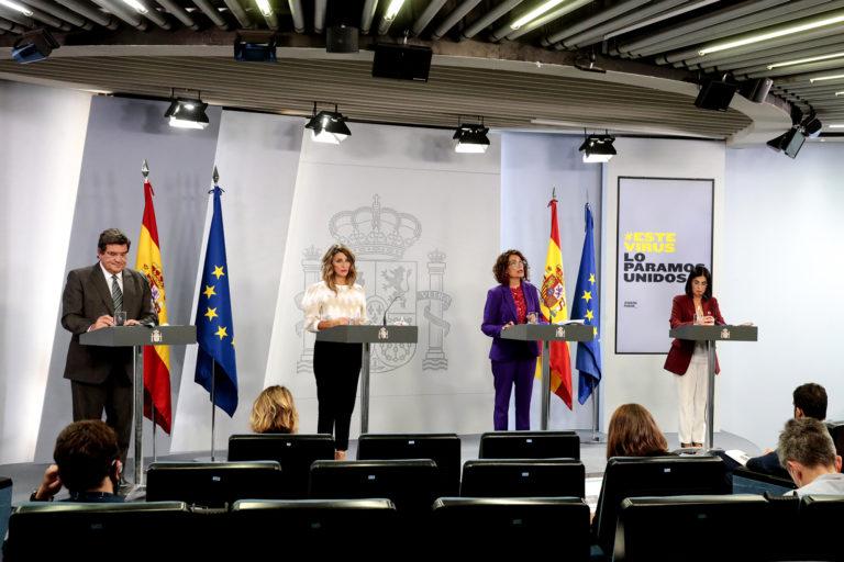El Gobierno amplía los ERTE y las ayudas a autónomos hasta el 31 de enero de 2021