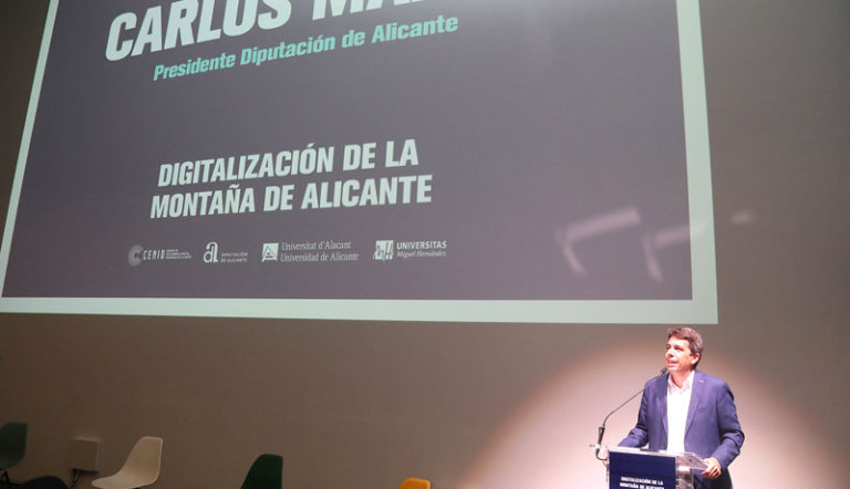 """Mazón: """"Alicante se convierte en la primera provincia de España con más kilómetros digitalizados"""""""
