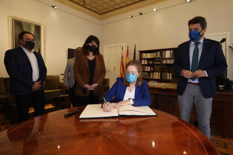 Carlos Mazón y Ana Pastor abordan la situación sanitaria y económica de la provincia en un encuentro en la Diputación