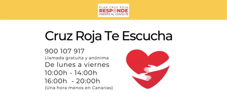"""""""Cruz Roja te Escucha"""" continúa activo para ofrecer apoyo psicológico"""