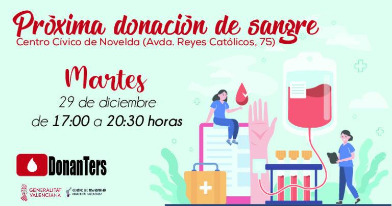 Próxima donación de sangre en Novelda