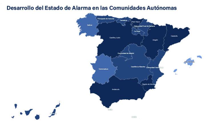 Sanidad publica en su web un mapa interactivo con las medidas que afectan a las comunidades autónomas bajo el estado de alarma