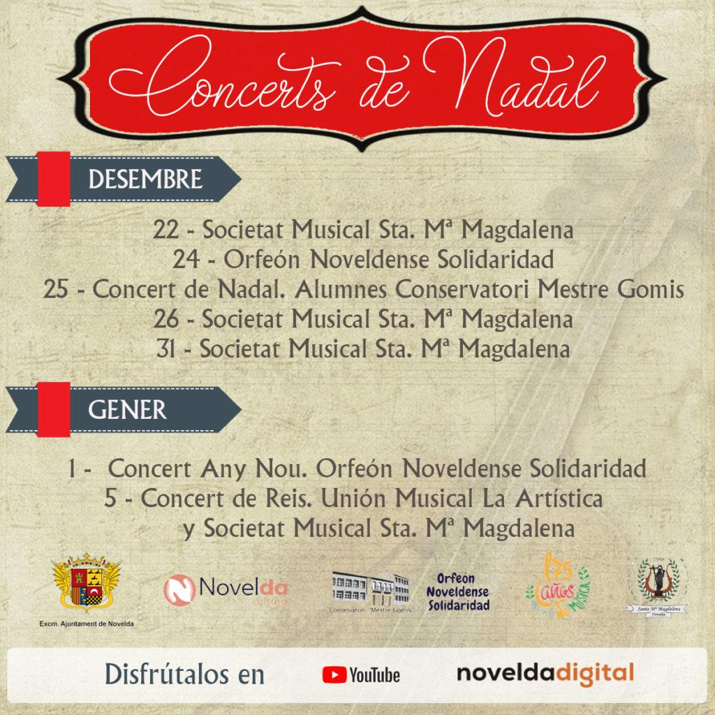programación conciertos navidad 2020