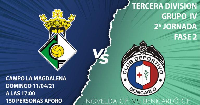 El Novelda CF se enfrentará al CD Benicarló este domingo con aforo limitado
