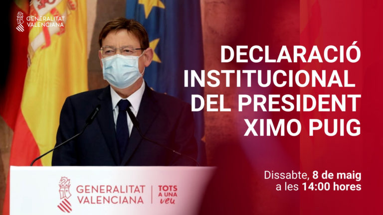 Ximo Puig anuncia el inicio de una nueva etapa de «apertura progresiva» en la superación de la pandemia que «ya no tendrá marcha atrás» gracias a la vacunación