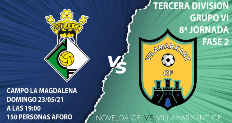 El Novelda CF se enfrentará este domingo al Villamarxant CF