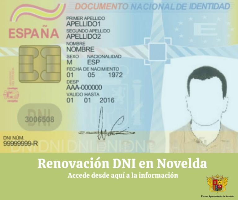 Cita para renovar el D.N.I. en Novelda
