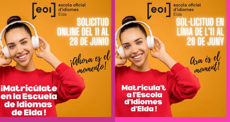 Comienza el periodo de matriculación de la EOI de Elda y sus sedes en Novelda, Aspe y Villena