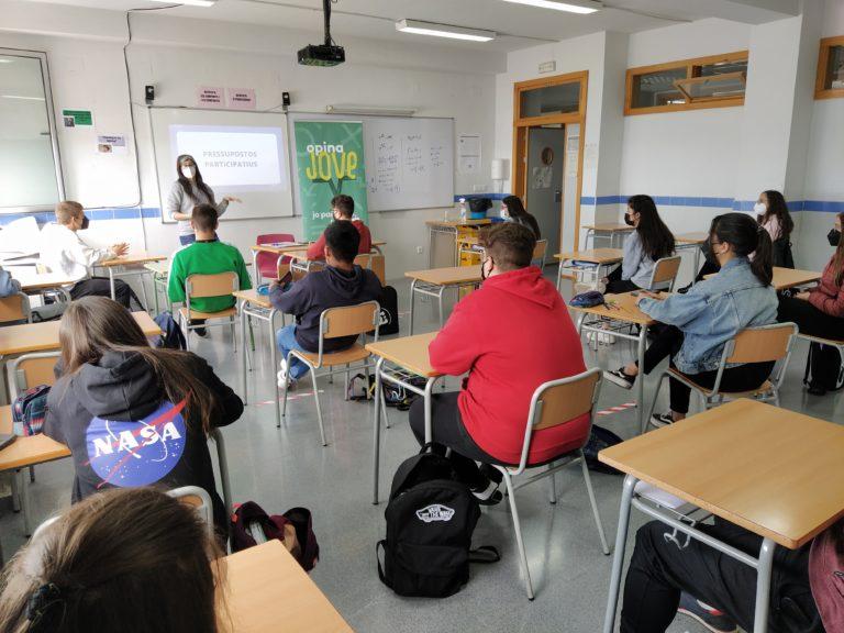 Alumnos del IES El Vinalopó presentan propuestas para los Presupuestos Participativos de la Generalitat Valenciana