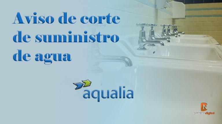 Corte de agua desde esta tarde hasta el domingo