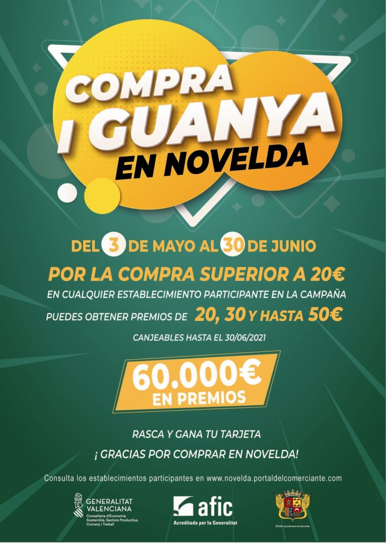 Quedan pocos días para que finalice la campaña Compra i Guanya en Novelda