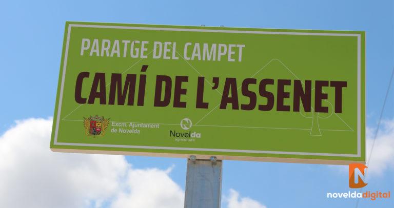 Comienza la instalación de nuevas señales con los nombres de los caminos rurales de Novelda