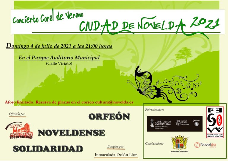 El próximo domingo concierto del Orfeón Noveldense Solidaridad