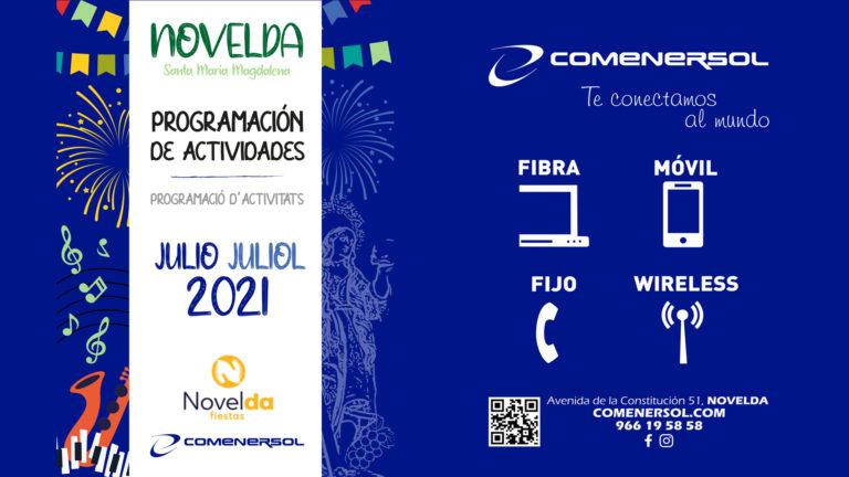 La concejalía de Fiestas presenta la Programación de Actividades para Julio 2021