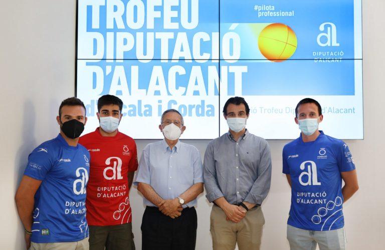 Arranca este fin de semana el 'Trofeu Diputació d'Alacant d'Escala i Corda' con los mejores pilotaris de la Comunitat