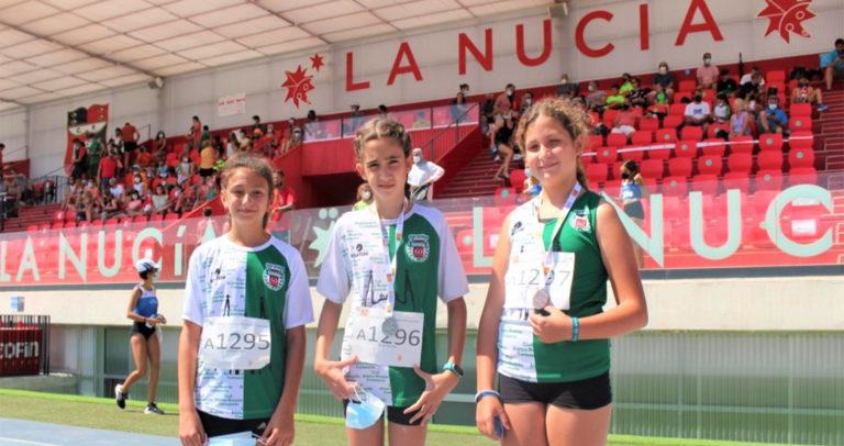 Las atletas del Club Atlético Novelda Carmencita destacan en el Campeonato Provincial SUB-12 de los Juegos Escolares de la Comunidad Valenciana