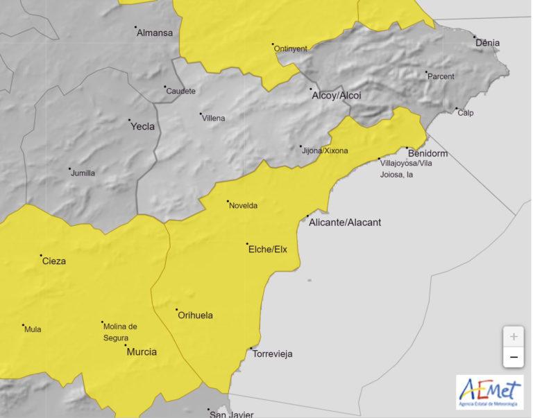 AEMET activa la alerta amarilla por calor en Novelda