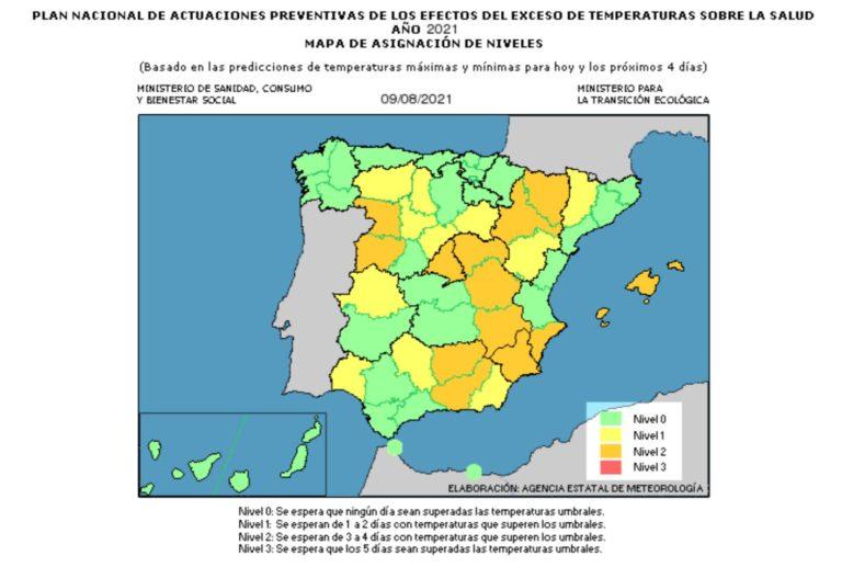 Alerta naranja por altas temperaturas en Novelda durante la primera gran ola de calor del verano que comienza esta miércoles en España