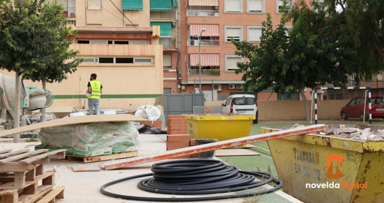 Avanzan las obras en el Colegio Alfonso X El Sabio de cara al próximo curso