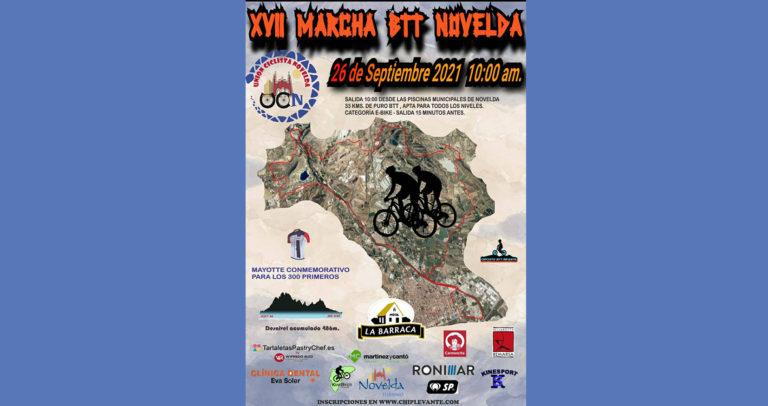 La Unión Ciclista de Novelda organiza la XVII Marcha BTT Novelda el próximo 26 de septiembre