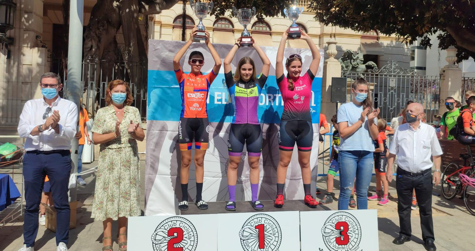 Leyre Toledo gana el Campeonato Provincial de Ciclismo tras una espectacular remontada en el Trofeo Diputación «Escuelas de Ciclismo»