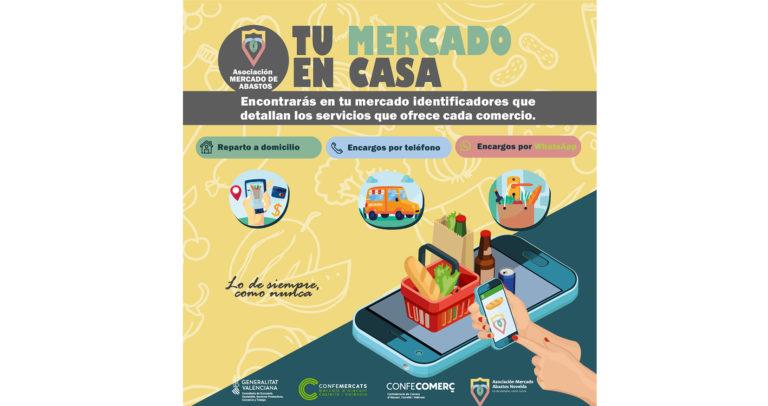 La Asociación del Mercado de Abastos de Novelda presenta la campaña Tu Mercado en casa