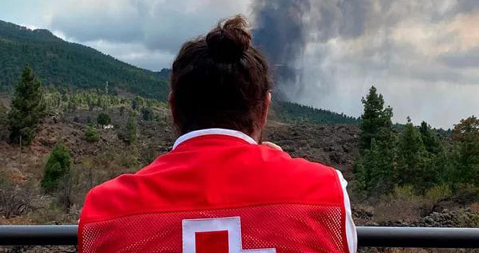 Respuesta de Cruz Roja en el volcán de La Palma