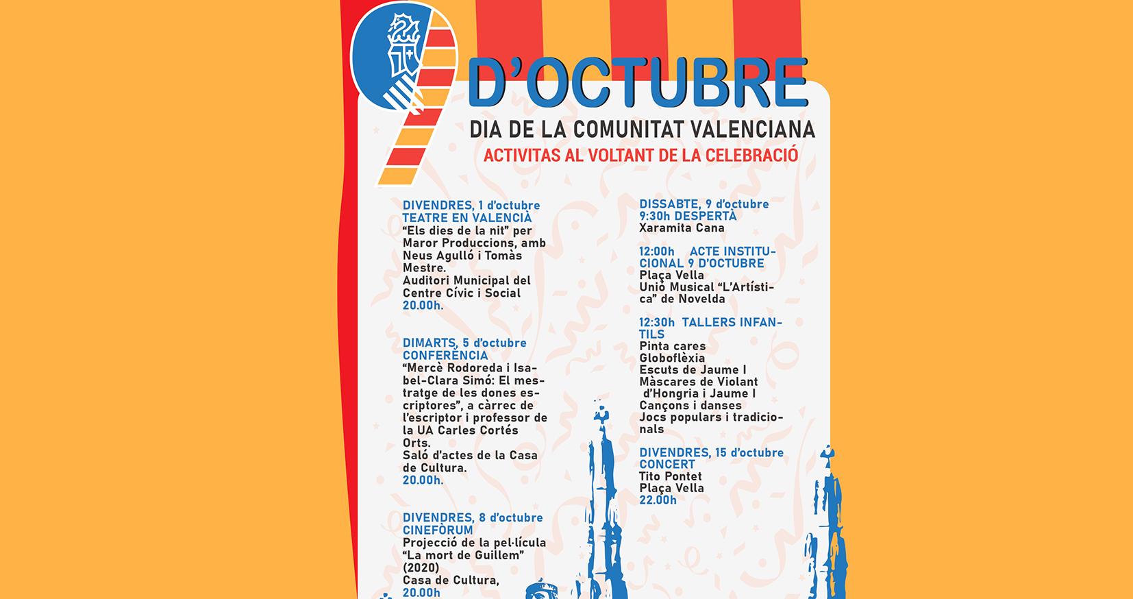 Programación para conmemorar el 9 d'octubre, Festa del País Valencià