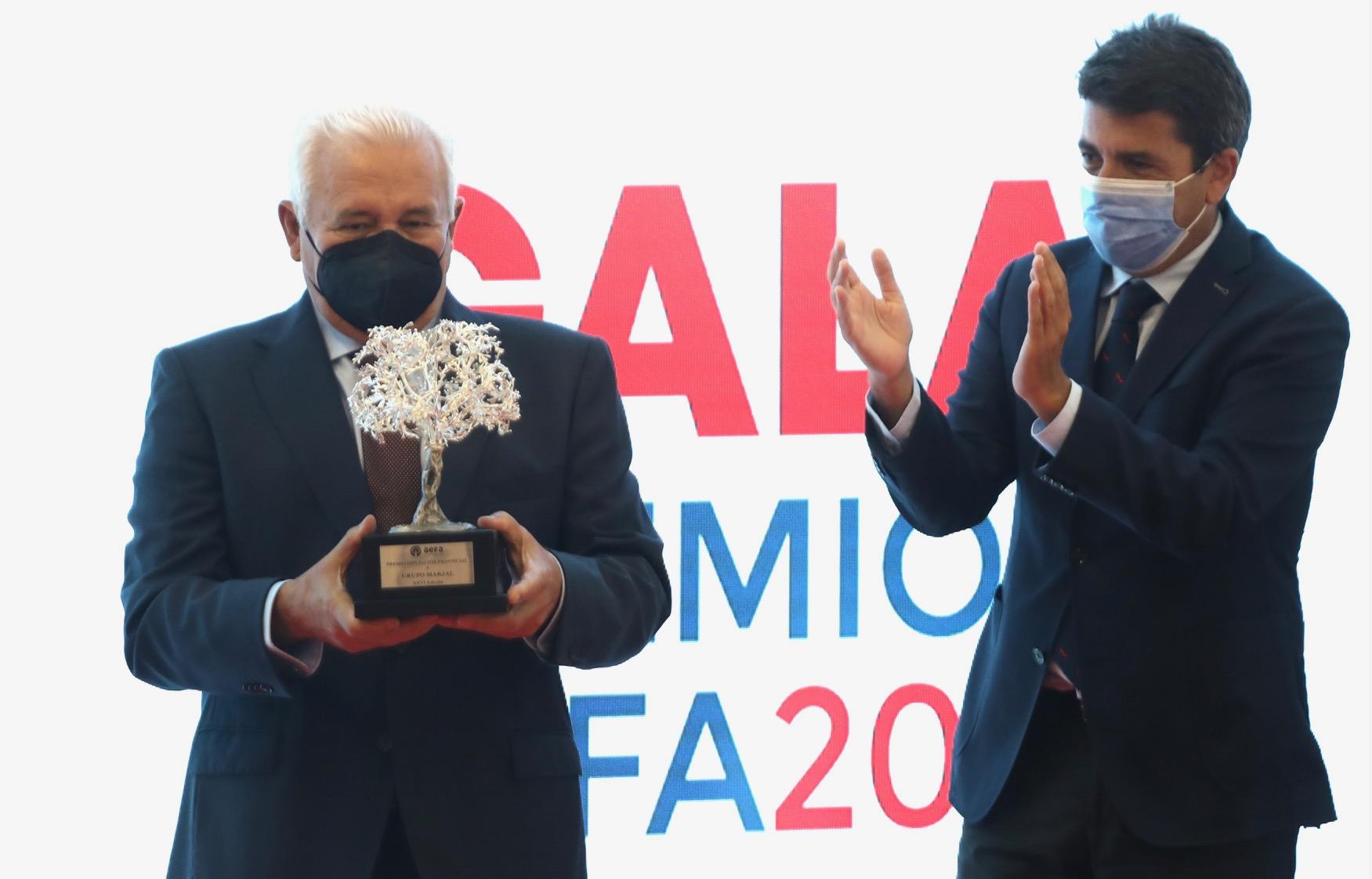 El presidente de la Diputación participa en Dénia en la XXVI edición de los Premios AEFA que reconocen la trayectoria de empresas y profesionales de la provincia
