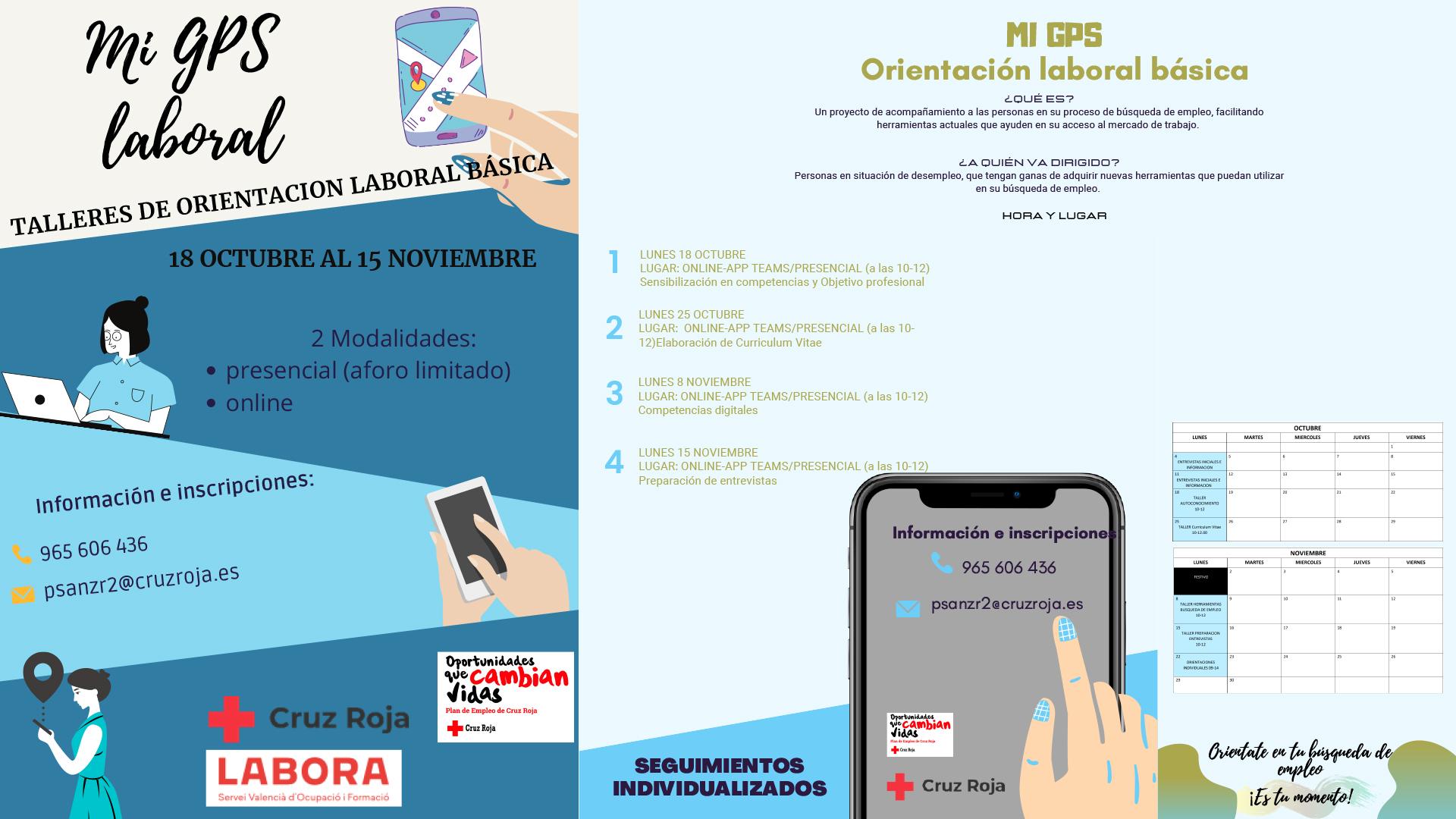Nuevo taller de Cruz Roja: «Mi GPS laboral»
