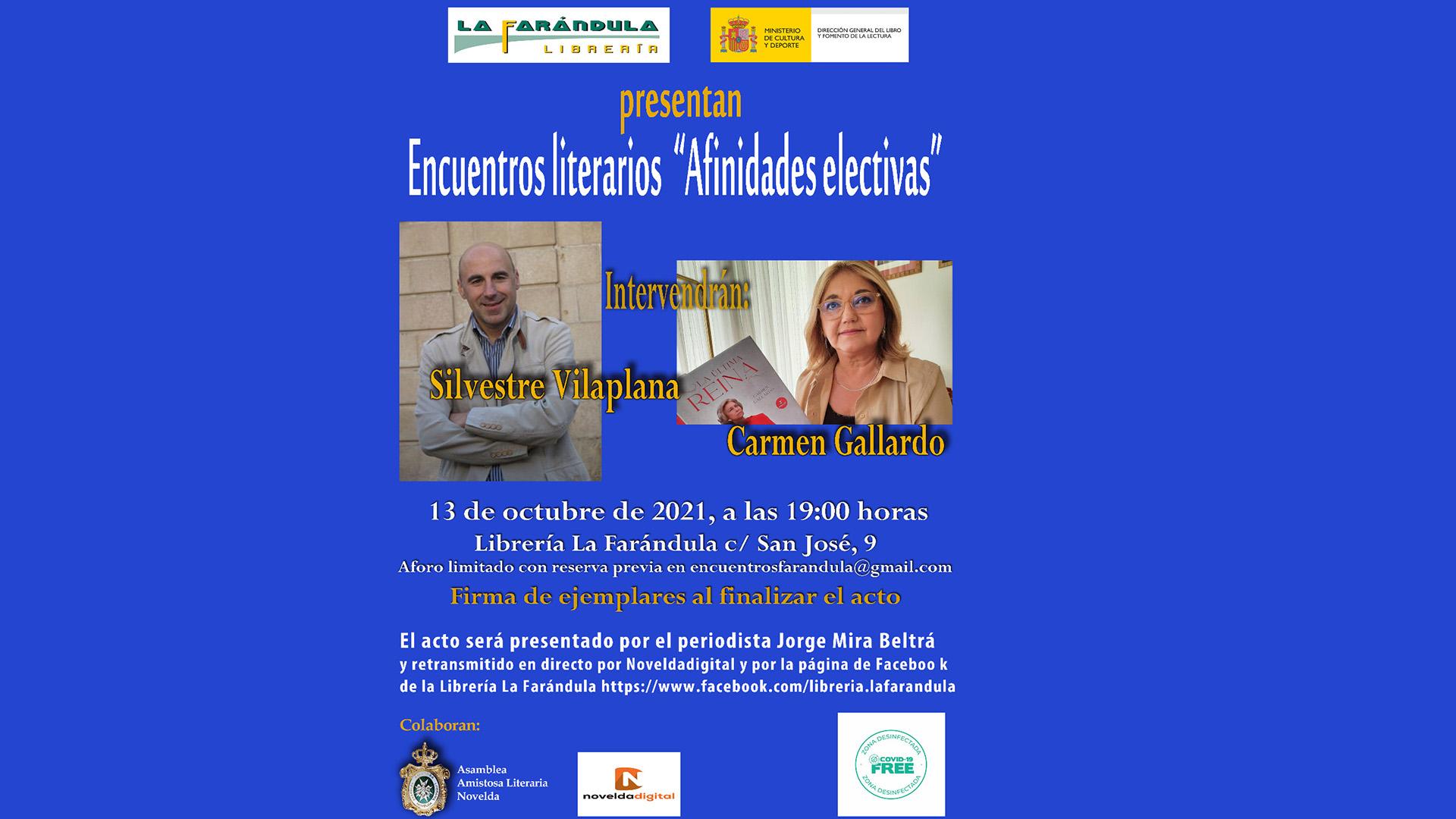 Encuentro literario entre Carmen Gallardo y Silvestre Vilaplana en la Farándula
