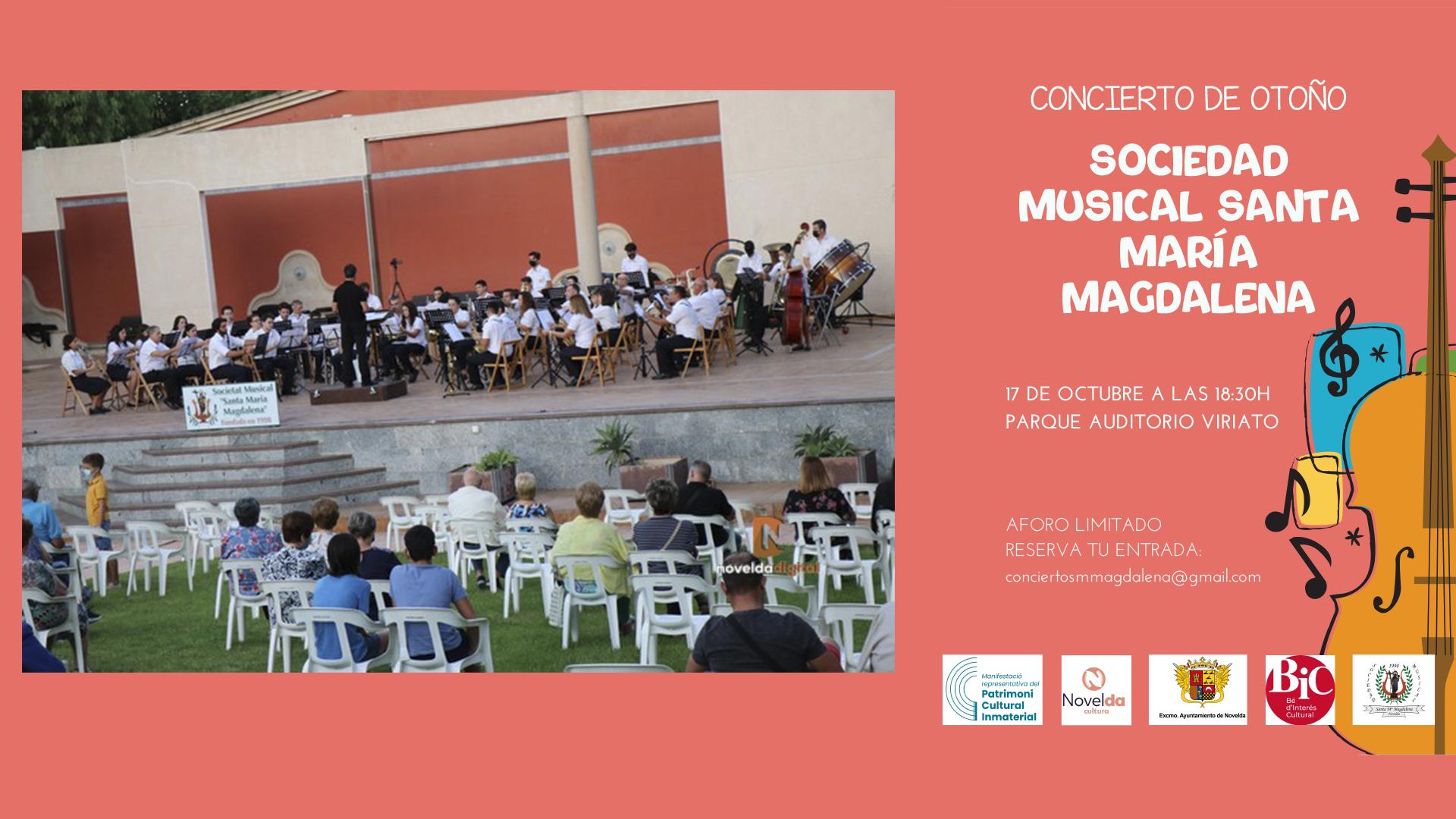 El próximo domingo concierto de la S.M. Santa María Magdalena