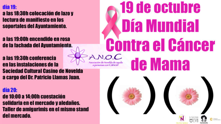 La Asociación de Novelda de ayuda a personas con Cáncer celebra los actos conmemorativos del Día Mundial contra el Cáncer de Mama