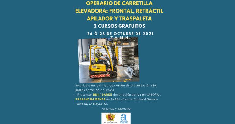 Desarrollo Local presenta los cursos de Operario de carretilla elevadora